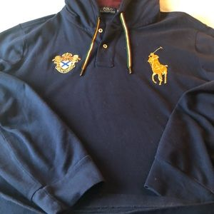 Men's hooded polo pullover xl like new